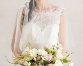 Bridal Veil, Chapel Veil with Blusher, Wedding Veil, Chapel Length Wedding Veil, Tulle Veil, Drop Veil,  Bridal Veil, Ivory Tulle Veil,