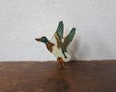 Rad Vintage Mallard Duck in Flight Enamel Pin