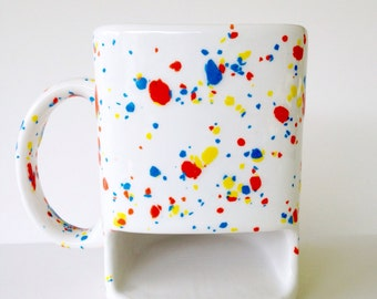Cookie Dunk Mug - Speckled Cookies and Milk Mug - Pottery