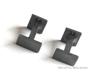 One Pair of Hand Forged Iron Modern Industrial Style Drawer Pulls/Knobs by VinTin