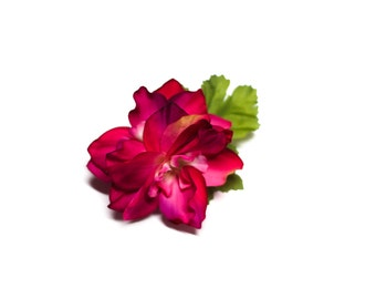 Mini Tropical Magenta Flower Pinup Hair Fascinator Clip ON SALE