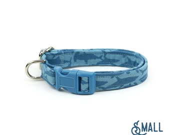 Shark Dog Collar - Terror of the Deep - Mini Small Medium Large XL Dog Collar - Nautical - Sea
