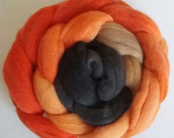 Tiger Polwarth combed tops for spinning