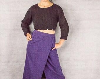 Guatemalan Hand Woven Ikat Pencil Wrap Skirt///size M