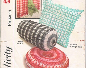 Smocked Cushions & Half Curtain Pattern by Simplicity No. 4679