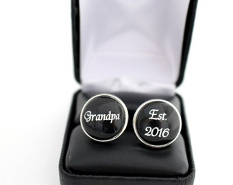 Grandparent Gift, Grandpa Cufflinks, Father's day gift Gift for Grandfather, Grandpa Gift, First time Grandpa, Grandpa Father's Day Gift