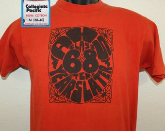 AHS Class of 1968 10 years later vintage t-shirt S orange 70s 1978 high school Collegiate Pacific