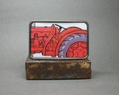 Belt Buckle Red Farm Tractor for Men or Woman