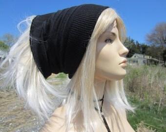 Dreadlock Tube Hat Wide Knit Headband Wool Knit Dread Tube Hat BLack / Charcoal Gray hairband  A1035