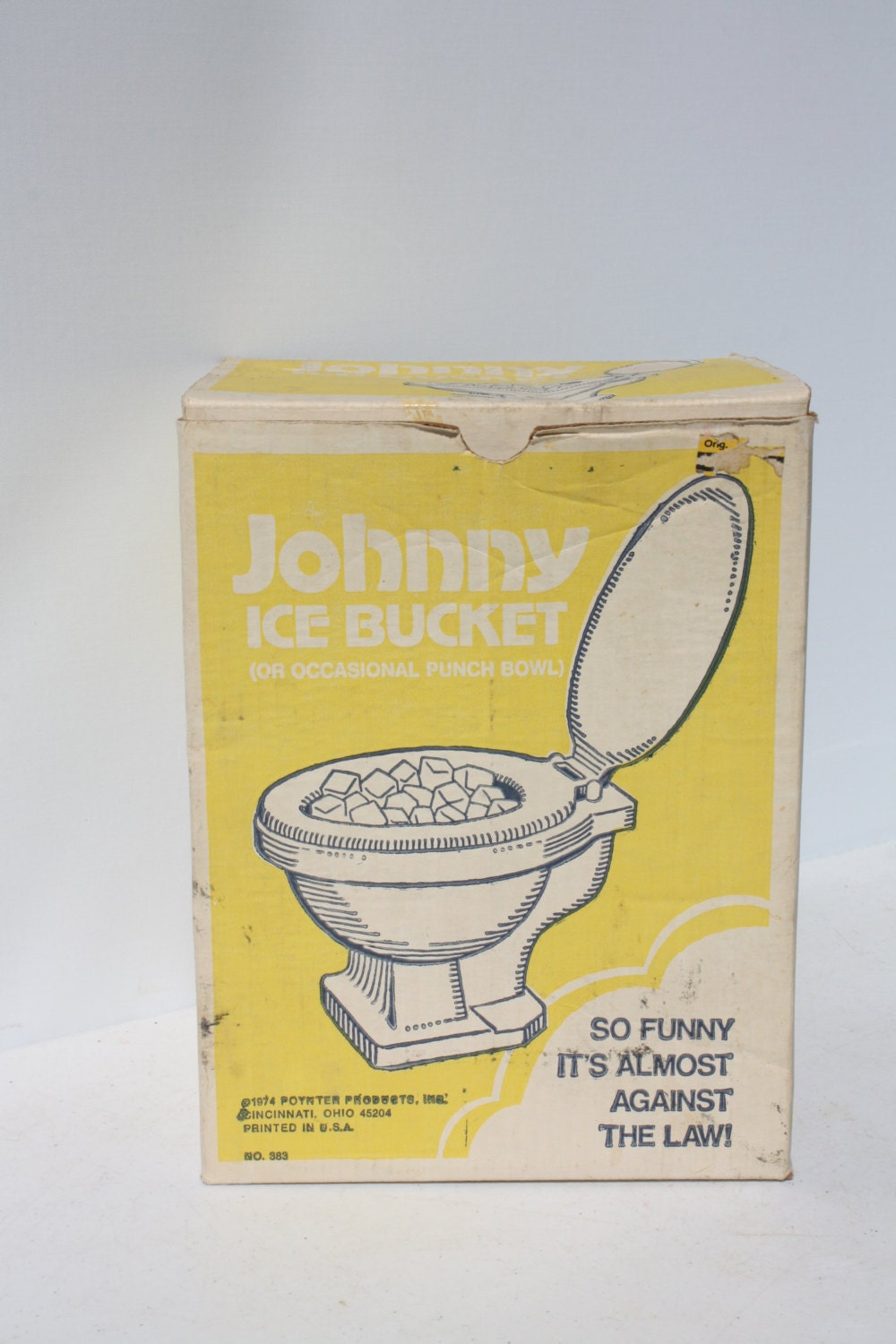 Vintage Ice Bucket Toilet Punch Bowl Party Gag Gift