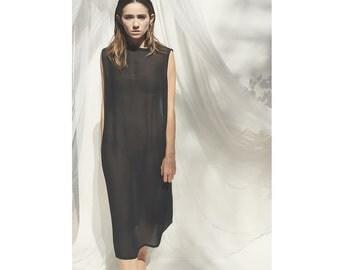 90's Black See Thru Dress