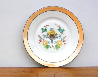 Antique Floral Lusterware Plate OG Otto Grunert Germany
