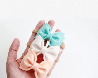 Classic Felt Bow || Clip or Headband || Newborn, Baby, Toddler Bows