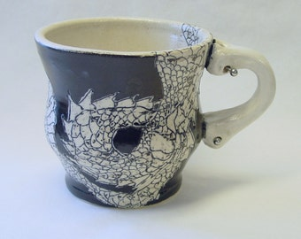 Dragon Tattoo Mug with Piercings 16oz 475ml