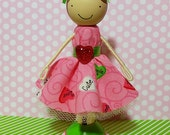 SweetHeart Valerie Miniature Wooden Clothespin Doll