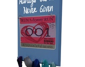 Always earned... Race bib holder - holder for bibs and medals, running race bib display