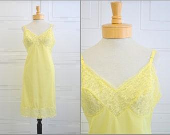 1960s Pale Yellow Vanity Fair Slip