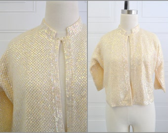 1960s Cyn Les Sequinned Cardigan Sweater