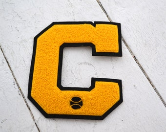 "Vintage ""C"" Baseball Athletic Letter Patch"