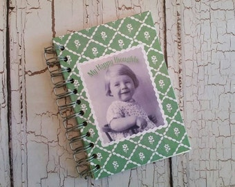 Handmade journal,Pretty notebook,Blank page journal,Spiral notebook,Prayer journal