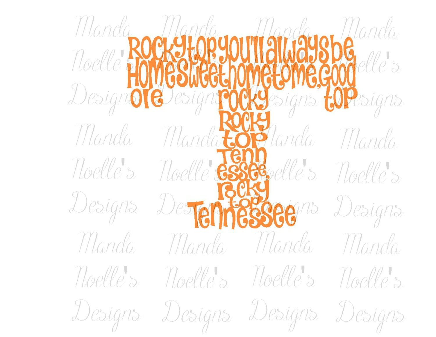 Rocky Top Tennessee SVG Print and Silhouette Instant