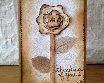 Thinking of You handmade card | Sympathy, thank you, condolences, encouragement, friendship