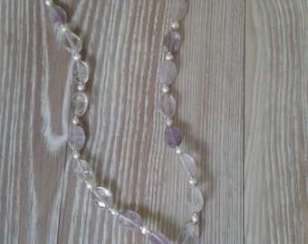SALE Amethyst and Pearl Necklace