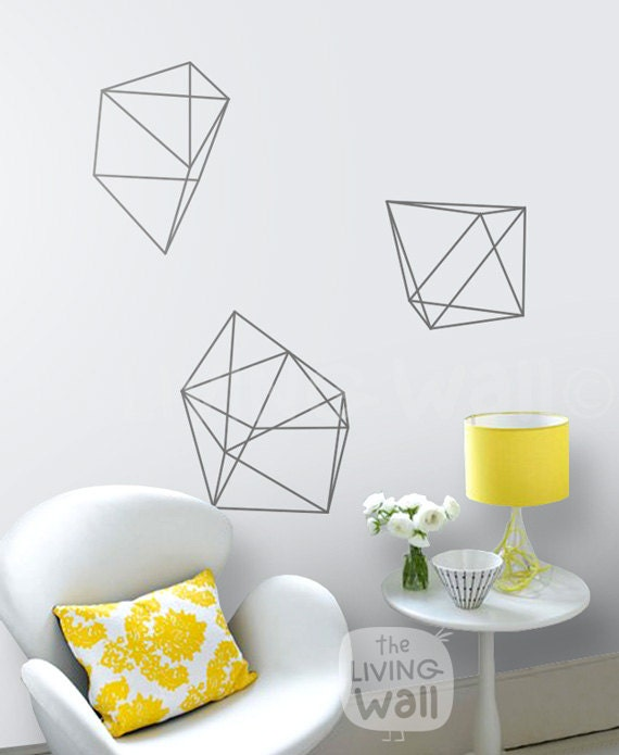 Diamonds wall decals geometric shapes home decor removable Home decor wall decor australia