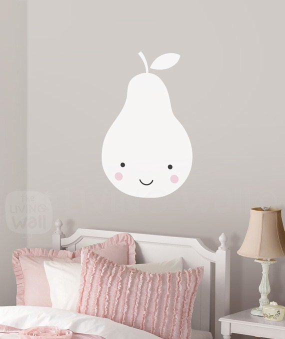 Pear nursery wall decals fruit baby room wall art sweet pear vinyl stickers home decor Home decor wall decor australia