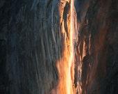 Fire Fall Down (Horsetail Falls, Yosemite National Park, California)