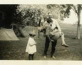 "Vintage Photo ""Carrying Momma Around"" Snapshot Antique Photo Black & White Photograph Found Paper Ephemera Vernacular - 63"