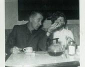 "Vintage Photo ""Coffee Chatter"" Restaurant Diner Snapshot Old Antique Photo Black & White Photograph Found Paper Ephemera Vernacular - 145"