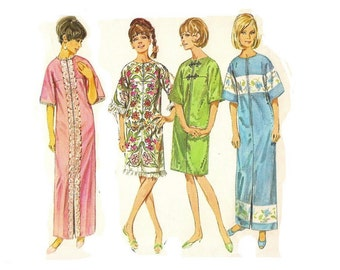 1960s Robe Pattern, Robe made of Towels, Towel Robe, Kimono Sleeves, Bust 34, Size 14, Simplicity 6795, Misses Vintage Sewing Pattern