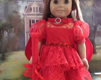 Devil  Costume, Halloween Costume, Dress up Costume, Doll Costume