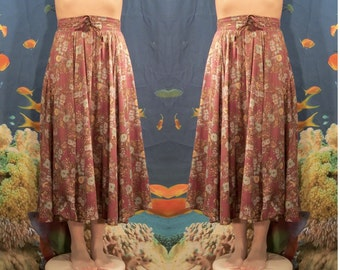 Country Maxi Floral Skirt, 70's