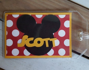 Personalized Disney Luggage Tag