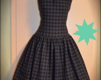 1950 plaid Swing dress