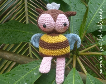 Amigurumi Bee Crochet Pattern PDF - Bee amigurumi Toy crochet pattern - Instant DOWNLOAD