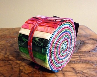 Anthology Batik Fabric BeColourful Story Strips Jelly Roll, Quilting, BA212-163