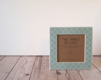 Teal Tiles 4x4 Square Picture Frame