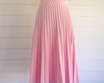 Vintage Pink PLEATED Accordion Skirt