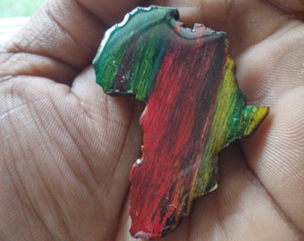 Africa - Africa Shaped - Africa Pin - Africa Broach