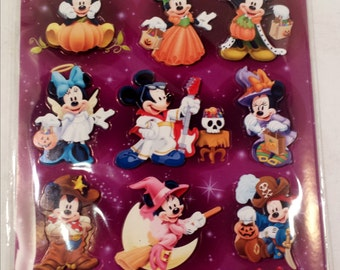 Disney HALLOWEEN 3D Stickers, Mickey and Minnie Mouse