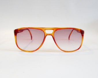 Vintage Sunglasses VISUAL SCENE 1980s Sunglasses TORTOISE Brown