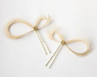 Gold Hair Pins, Champagne Hair Accessories, Bridal Hair Pins, Bridesmaid Gift, Bridal Party Hair, Wedding Hair Pins, Gold Hair Piece