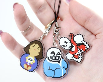 Undertale Video Game Acrylic Charms Double Sided Pixel Art