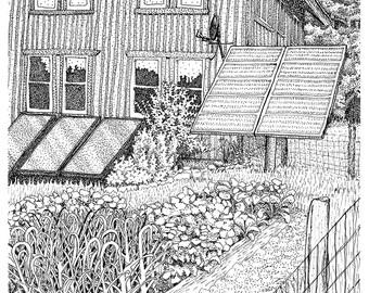 Solar Panels in the Garden, 8x10 print