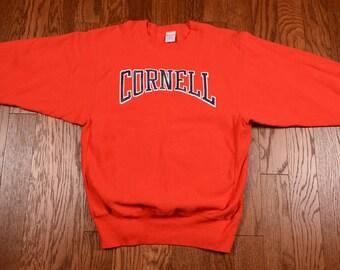 vintage 80s Cornell sweatshirt Champion reverse weave Big Red athletics 1980 extra large XL heavyweight cotton Ivy League