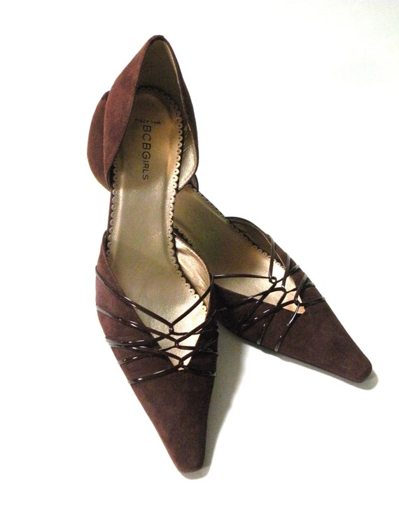 BCBG MAX AZRIA Suede Expresso Brown- Size 10B Pumps and High Heel Shoes- Classic Wedding