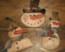 Country Snowman Ornaments E Pattern